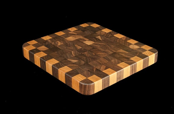 "Walnut & Birch End Grain 10"" Cutting Board"