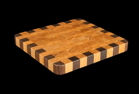 "Birch & Walnut End Grain 10"" Cutting Board"