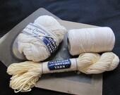 Vintage Soft Cotton Yarn Ivory Sugar n Cream Enterprise Knitting Unused NOS