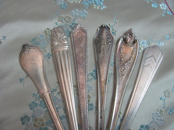Beautiful Silverware Silver Hair Stick Bun Pick Ornate Fancy   Many to choose from!! More in my shop come see!