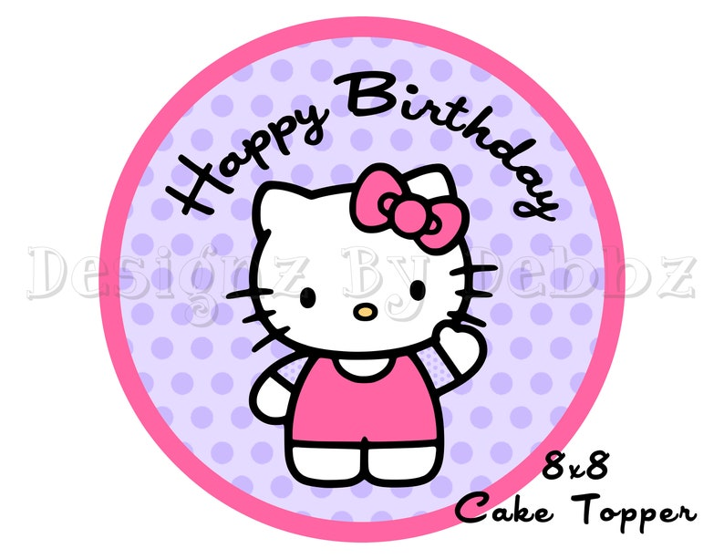 graphic regarding Kitty Printable identify Quick Down load Howdy Kitty Printable Cake Topper