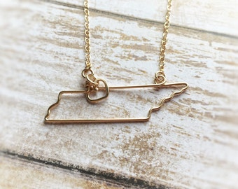 Tennessee necklace etsy tennessee necklace tennessee state necklace home state necklace state jewelry state necklaces silver or gold gift for her aloadofball Images