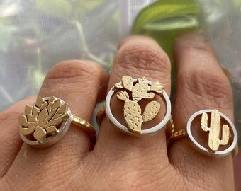 Cactus Ring - Prickly Pear Ring - Agave Ring - Saguaro Cactus Ring - Desert Style - Boho Style - Festival Style Ring