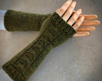 Gloves for Her, Knit Fingerless Gloves, Knitted Fingerless Mittens, Hand Knit Gloves for Women, Arm Warmers, Texting or Typing Gloves
