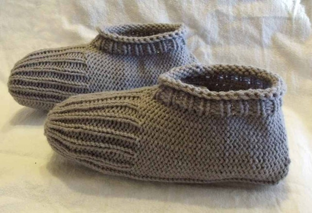 Learn To Knit Slippers Tutorial Knitting Pattern For Kindle Etsy