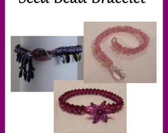 Learn to Weave a Beautiful Seed Bead Bracelet Bead Pattern for iPad, Kindle, Nook, Kobo, Sony