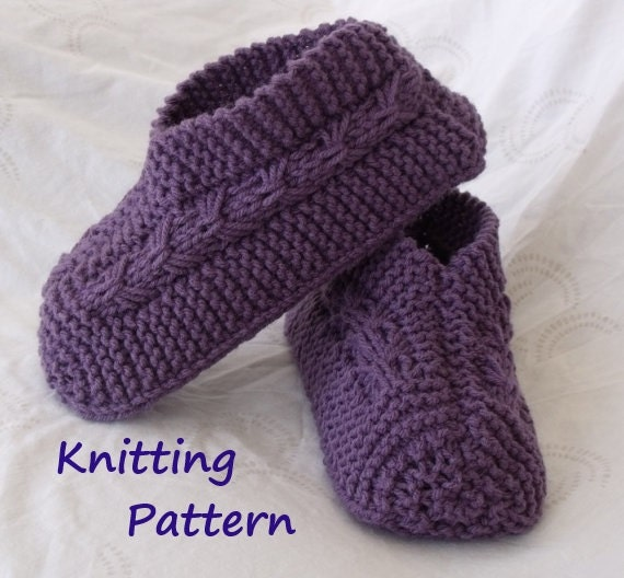 Easy To Knit Bow Slippers Tutorial Knitting Pattern For Etsy