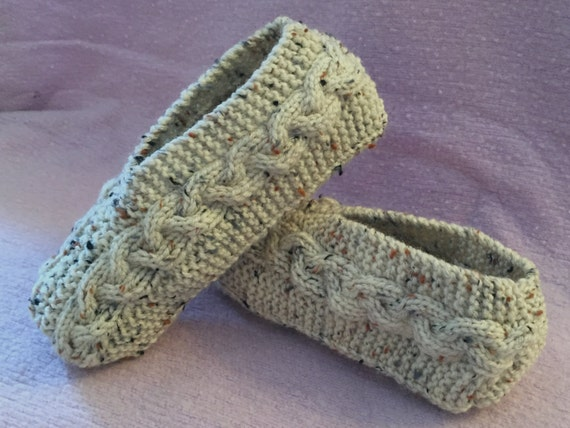 Cable Knit Slippers Tutorial Knitting Pattern For Kindle Etsy