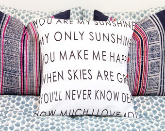 You Are My Sunshine Pillow | Personalized Pillow | Long Distance Gift for Her | Gift for Grandparent | Valentines Day Gift | Mothers Day