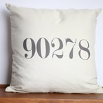 Customized Zip Code Number Pillow Cover| Hometown Accent Moving Gift | Hard to Shop for | North America Travel Pillow | Unique Address Decor
