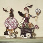 Halloween Paper Doll - Astrologer's Wife With Armillary Sphere Halloween Decoration - Party Decor and Paper Craft HP34 H
