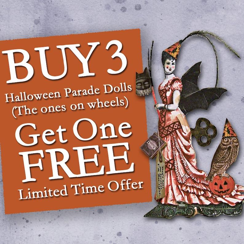 SALE Digital Halloween Decorations Centerpieces Greeting image 0