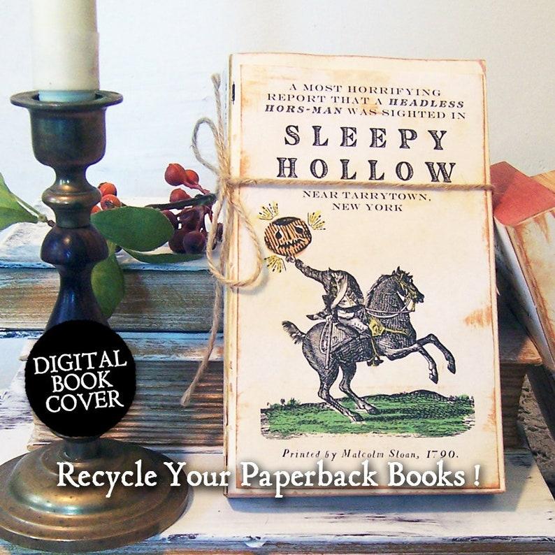 Halloween Clip Art Headless Horseman  Vintage Digital Book image 0
