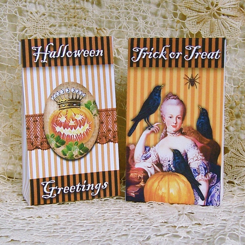 Halloween Treat Boxes  Mini Box  Boxes Digital  Marie image 0