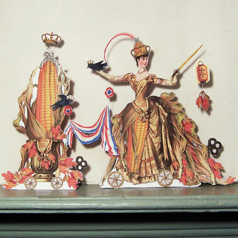Thanksgiving Decoration INSTANT Download Digital Corn Princess image 0