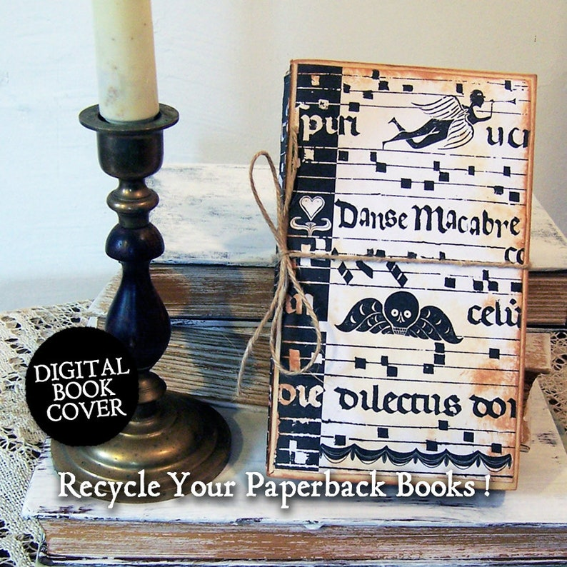 Skull Clipart  Halloween Collage Sheet  Rustic Books Digital image 0