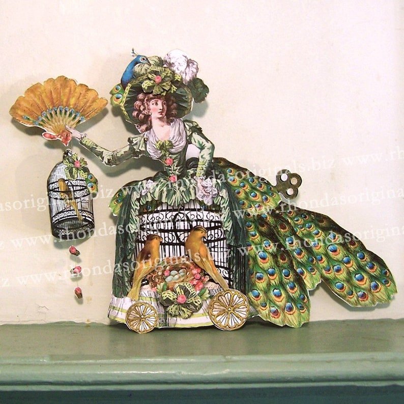Marie Antoinette Paper Doll Decoration Or 3D Greeting Card  image 0