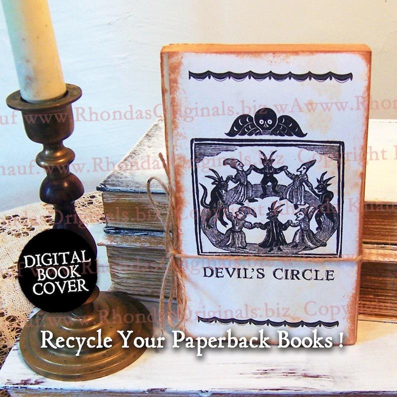 Halloween Clip Art Devil  Vintage Digital Book Cover Or Junk image 0