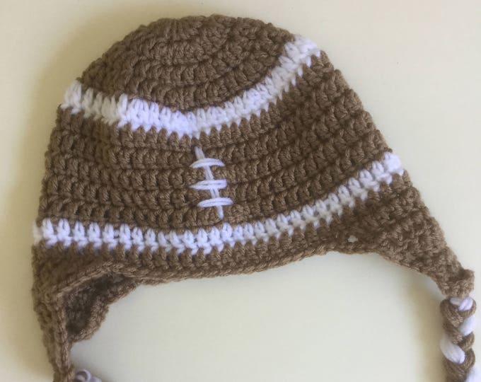 Crochet Football Earflap Hat