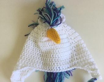 Crochet Unicorn Earflap Hat