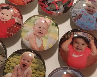 Set of 9 photo magnets