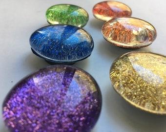 Rainbow Pride Glitter Magnets --Set of Six