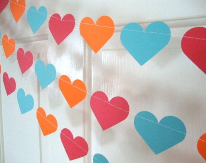 Baby shower/wedding heart garland