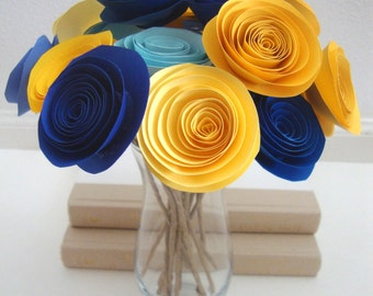 Rolled paper flower bouquet