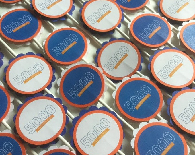 Custom Corporate Logo Cupcake Toppers or Tags
