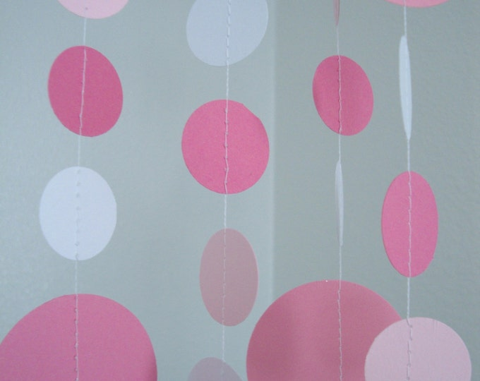 Pretty in pink birthday or baby shower garland