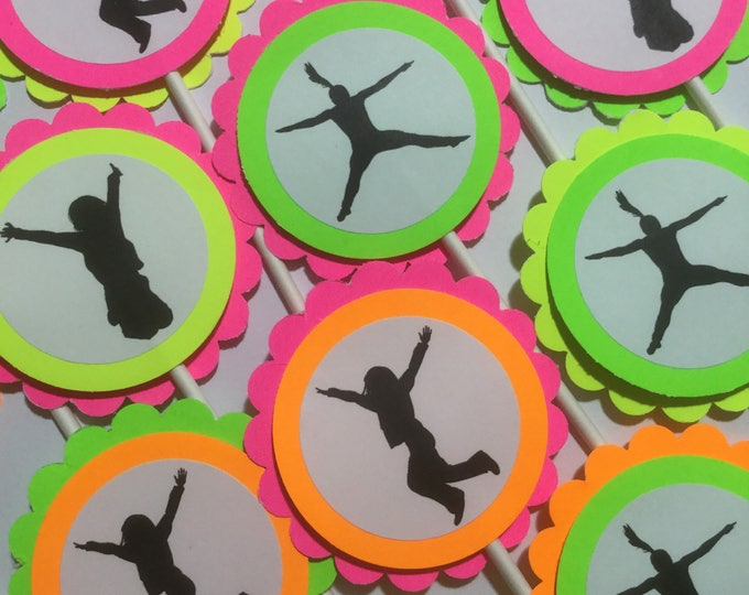 Black light neon party toppers