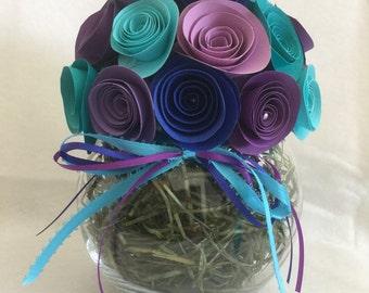 Rolled paper flower birthday/get well/graduation bouquet