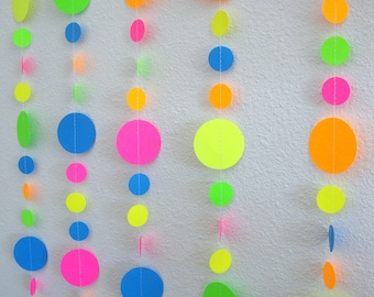 Neon garlands for black light party (blue added instead of white)