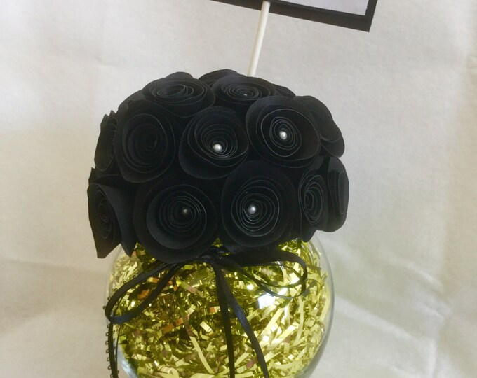 Rolled paper flower 40th birthday bouquet