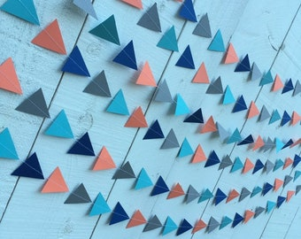Triangle pennant-style garland custom colors
