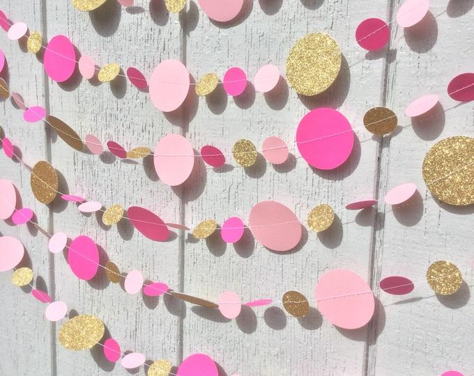 Glitter garland party decoration