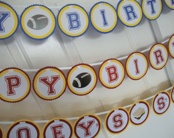 College colors birthday banner