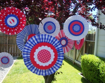 4th of July paper medallion decorations