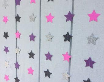 Glitter star garland