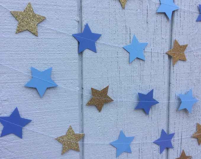 Glitter Star Garland Any Color