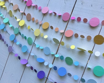 Pastel Rainbow Garlands - set of 6