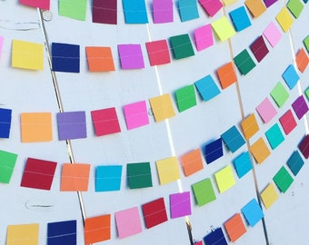 Colorful Square Party Garland Decoration