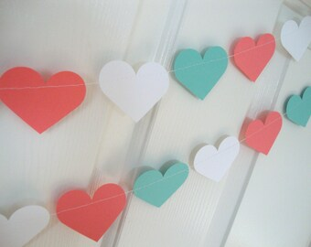 Baby shower/wedding heart garland