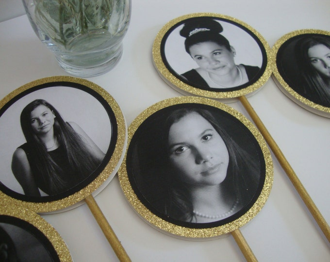 Custom Photo centerpiece for birthday, graduation, bat mitzvah