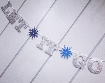 Let It Go Frozen-theme party banner
