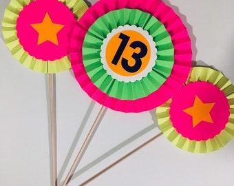 Glow party decoration  centerpiece