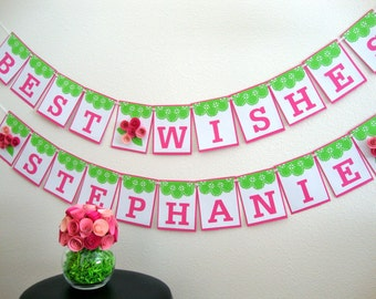 Best Wishes Floral Banner