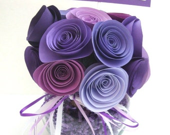 Rolled paper flower birthday or get well bouquet