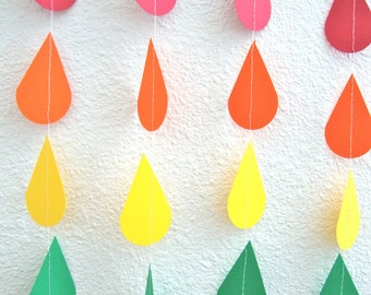 Sprinkle Garland for Baby or Bridal/Wedding Shower, Sprinkle Party, or Noah's Ark Theme/Rainbow Party