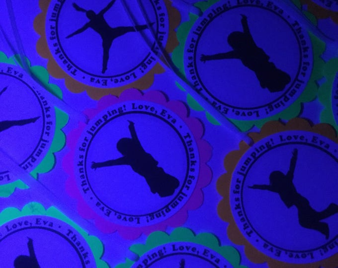 Glow Party Decorations / Black light neon party tags